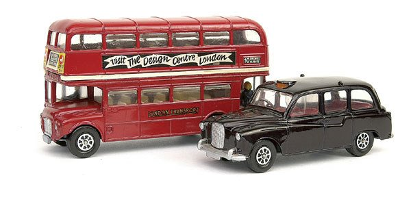 20: Corgi Routemaster Bus & Austin London Taxi Cab
