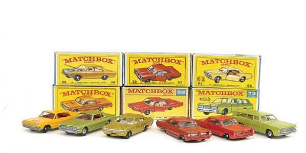648: Matchbox - A group of 6 Cars