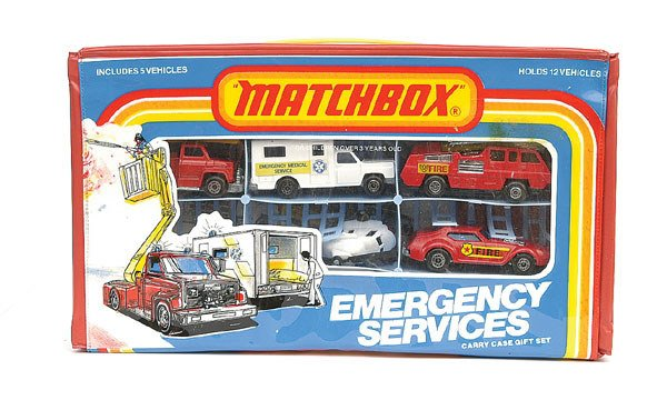 1002: Matchbox Emergency Services 5-piece Set