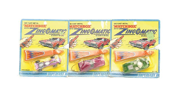 "1006: Matchbox a group of 3 ""Zingomatic"""