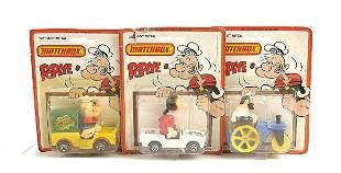 "Matchbox a group of 3 ""Popeye"""