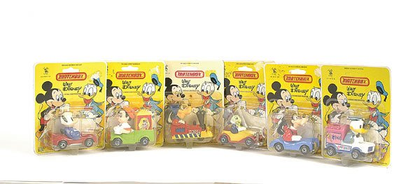 "1019: Matchbox a group of 6 ""Walt Disney"""