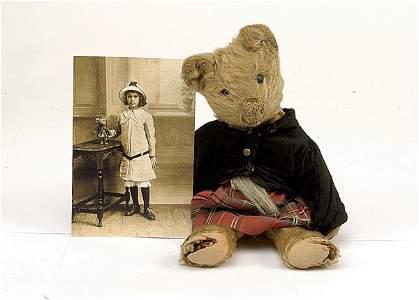 1749: A small golden mohair Teddy Bear, British, c1910