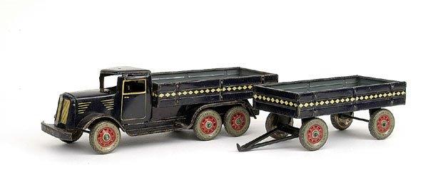 2517: Tipp & Co 6-wheeled Pre-war open backed Truck