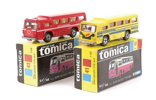 4006: Tomica 2 x No.41 Fuji Semi-Decker Bus