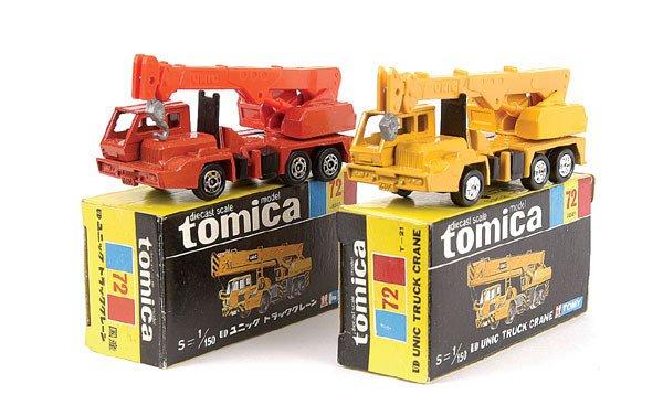 4007: Tomica 2 x No.72 Unic Mobile Crane Truck