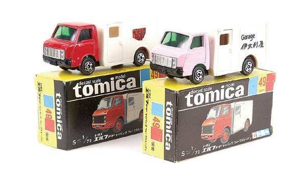 4016: Tomica 2 x No.49 Isuzu Elf Van