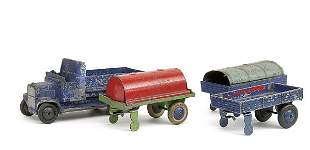Dinky No.33c Open Trailer & others