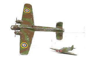 Dinky No.62t Armstrong Whitworth Whitley Bomber