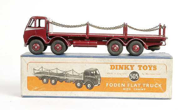 377021068b02 ... 326  Dinky No.505 Foden Flat Truck with Chains ...