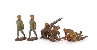 724: Elastolin-WWI Infantry - 7cm Italian