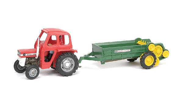 1779: Britains Massey Ferguson 135 Tractor with Cab