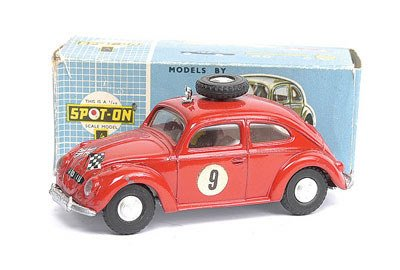 2870: Spot-On - No.195 VW Beetle Rally Car