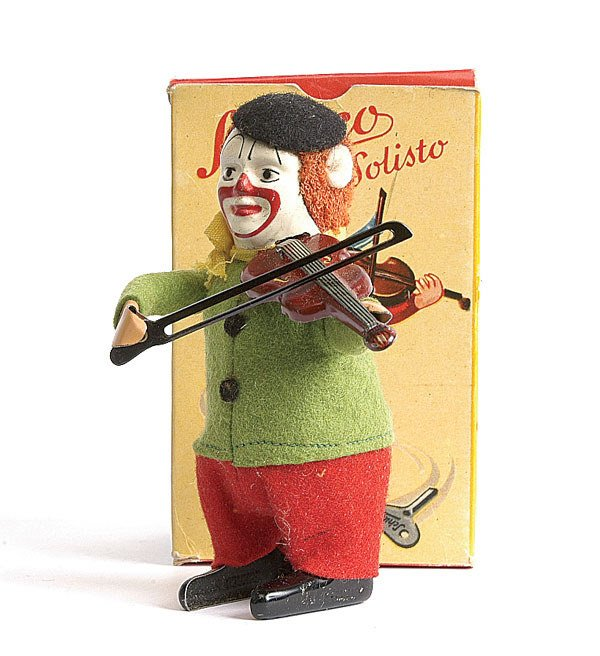 1: Schuco - 986/2 Solisto Clockwork Clown Violinist
