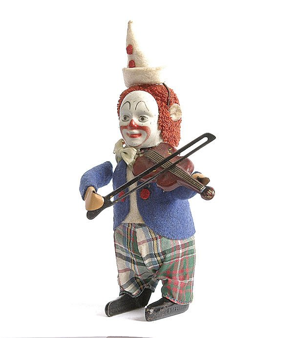 3: Schuco 986/2 Solisto Clockwork Clown Violinist