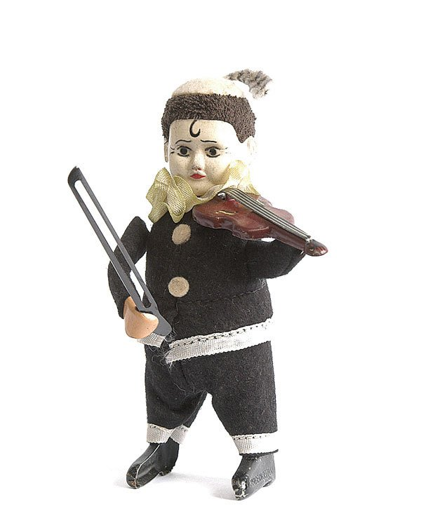 """21: Schuco 974/2 Clockwork """"Pierrot"""" Clown Violinist"""
