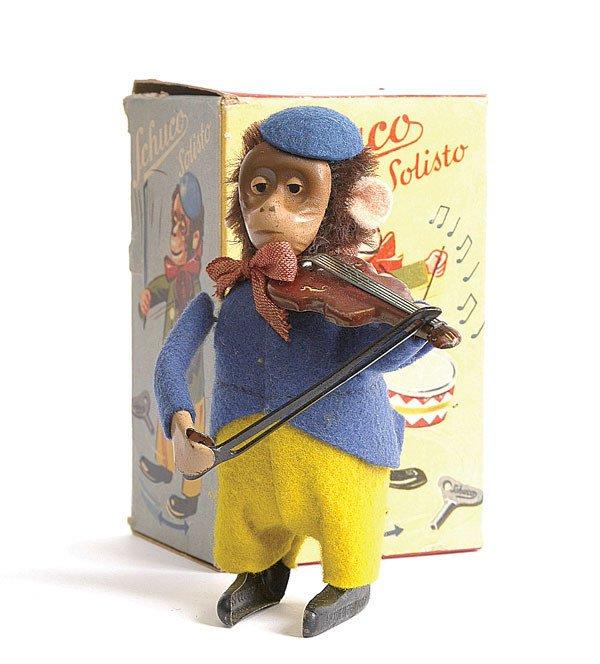22: Schuco - 985/2 - Clockwork Monkey Violinist