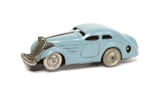 Blechspielzeug SCHUCO Auto  blau Patent ANG
