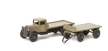 2436: Dinky No.25c Flat Truck & No.25g Trailer