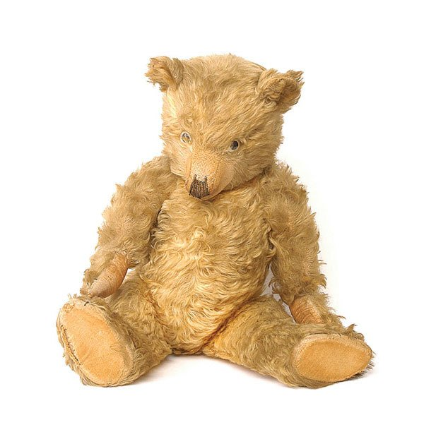 2001: Chiltern teddy bear, British, 30s, golden mohair