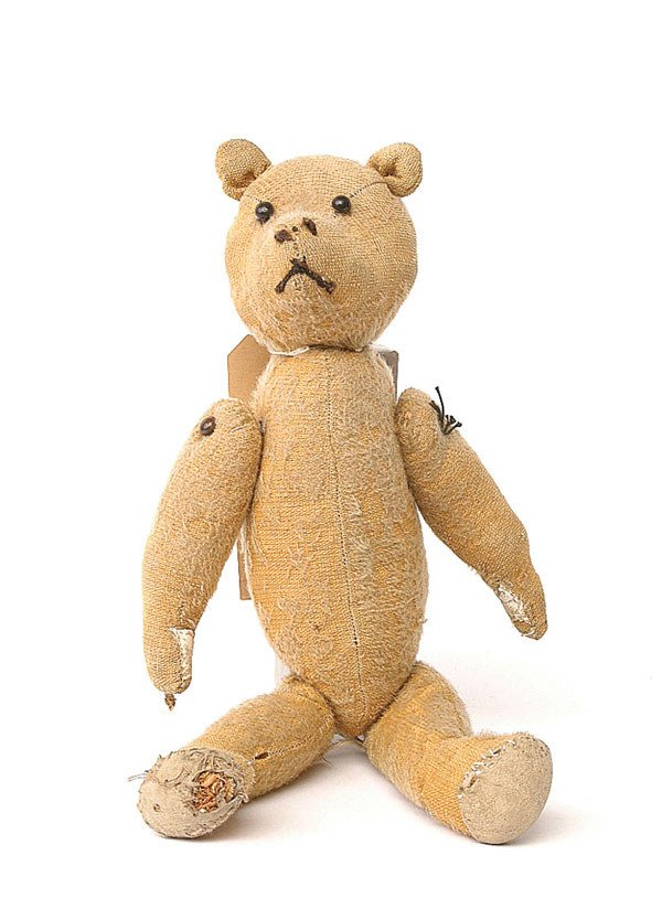2012: An early teddy bear, c.1910, golden mohair