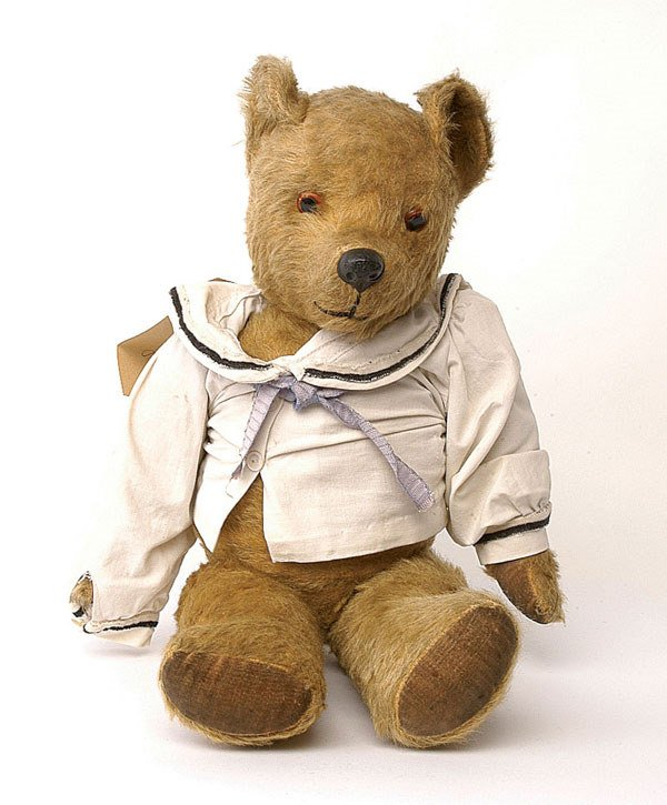 "2014: Pedigree ""Bobby"" teddy bear, British, 1950s"