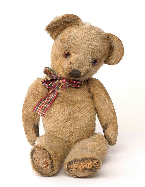 2015: Chad Valley teddy bear, British, 1950s