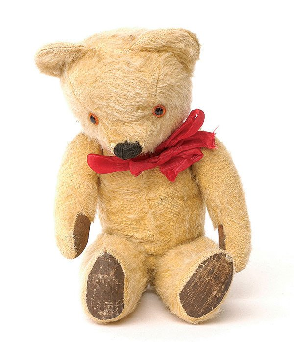 2022: Chad Valley teddy bear, British, 1960s, golden