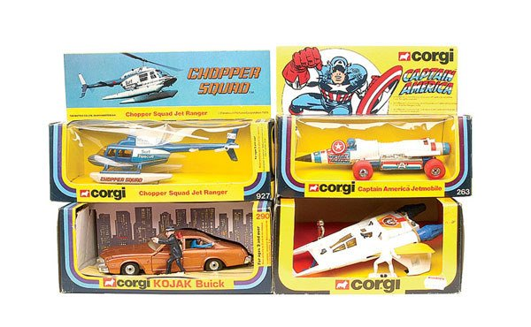 12: Corgi - a group of 7 TV Related Vehicles