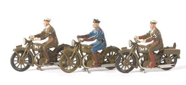 2121: Britains-from sets1791/93158 M/C Despatch Riders