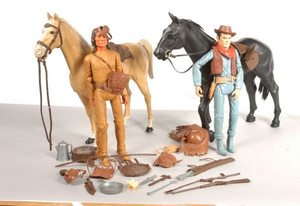 2471: Marx Toys Jonnie West Figures and Horses