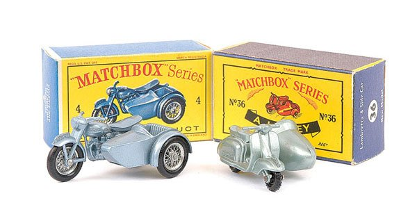 10: Matchbox No.36b Lambretta Scooter and Sidecar