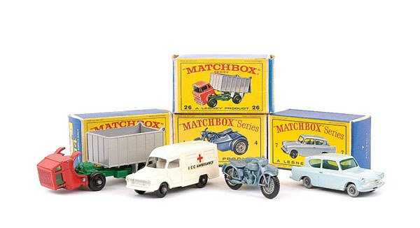 1941: Matchbox No.4c Triumph Motorcycle and Sidecar