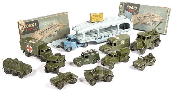 2009: A Group of Unboxed Corgi & Dinky Toys