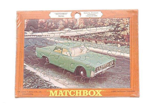 4024: Matchbox Jigsaw of No.31 Lincoln Continental