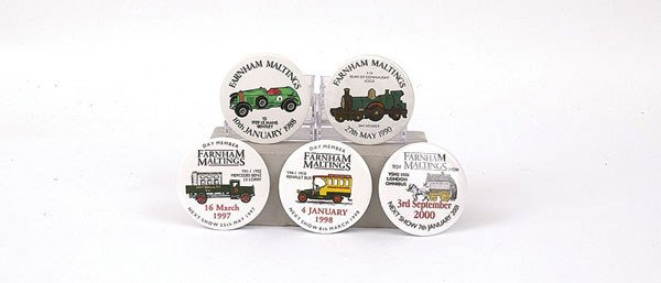 "2: Matchbox MOY ""Farnham Malting"" Badges"