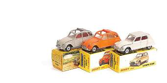 639: French Dinky - a group of Citroen Cars