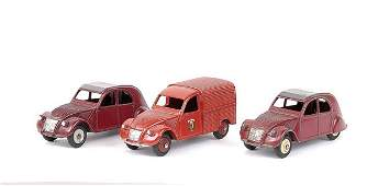 648: French Dinky - a group of Citroens