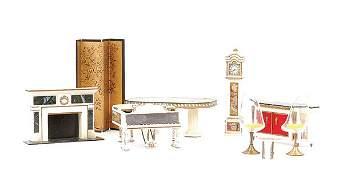 1439: Hard Plastic Doll's House Furniture