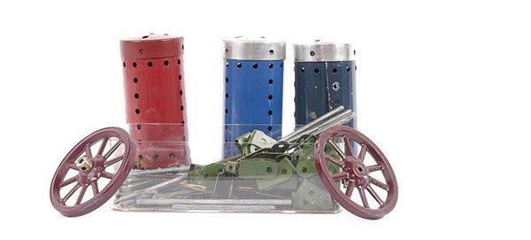 4019: Meccano - Quantity of Post-war components