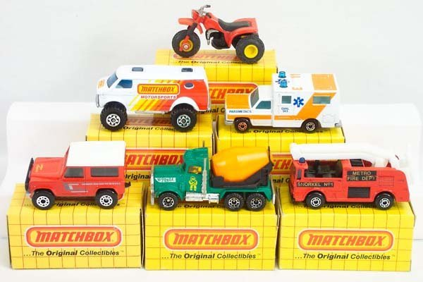 24: 26 x Matchbox Superfast Yellow Boxed Issues