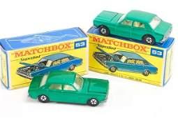 446: Matchbox Superfast 2 x MB-53 Ford Zodiac