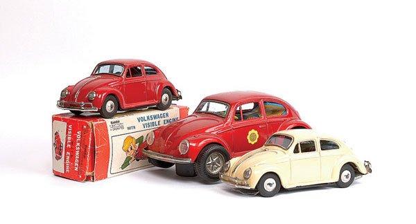 1009: 3 x Bandai (Japan) VW Beetles