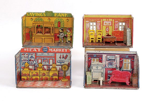 1023: Home Town Series Tinplate Shops and Rooms