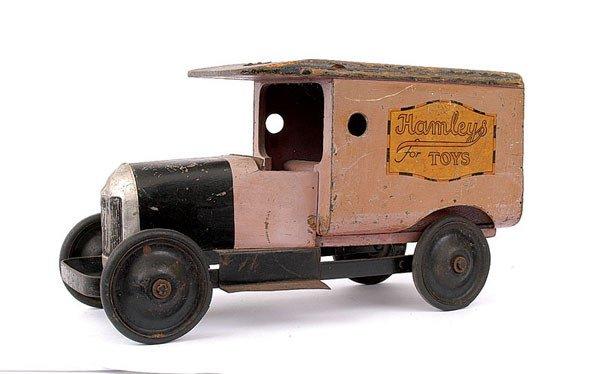"""1705: Lines Bros (Triang) """"Hamleys"""" Wooden Van"""