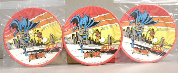 2001: Batman & Robin - a group of Party Plates