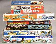 Matchbox, Tyco, Tomy - A Group of Slot Car Sets