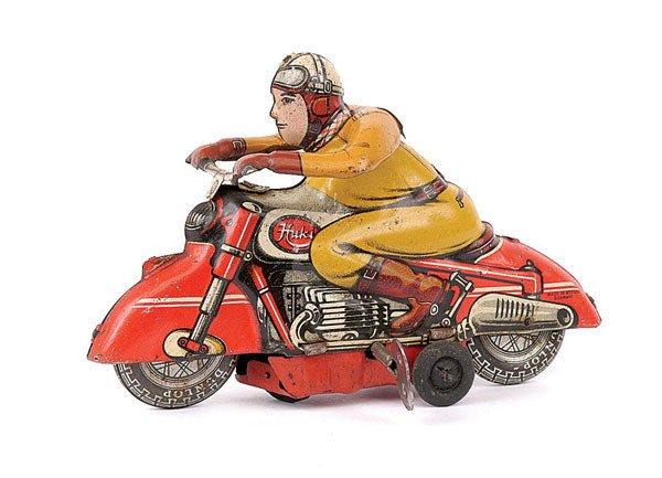 3002: Huki Tinplate Motorcycle Rider