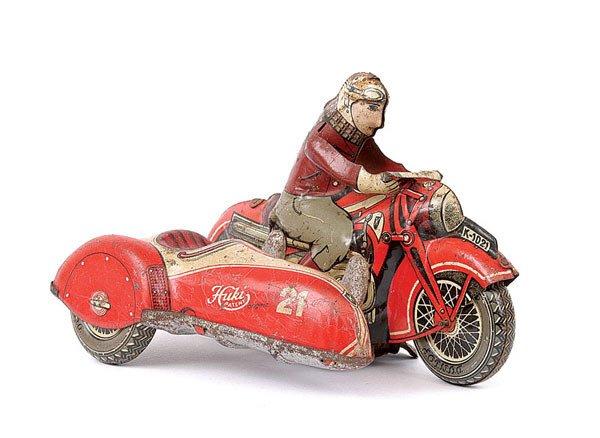 3003: Huki Tinplate Motorcycle and Sidecar