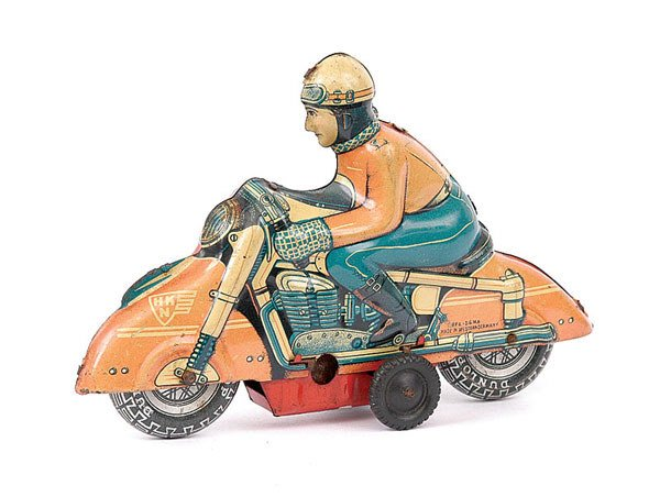 3005: Huki/HKN Tinplate Motorcyclist